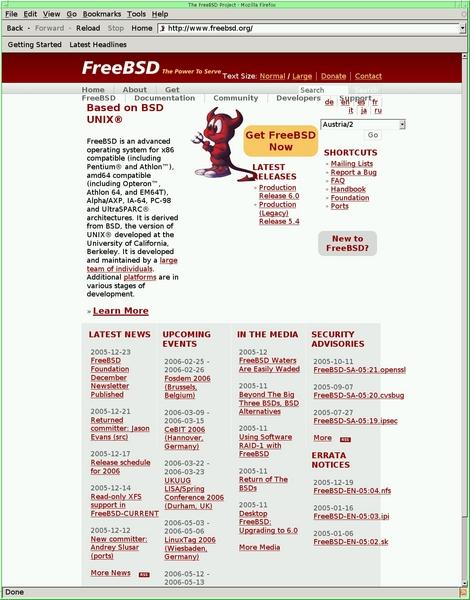 Greg's photos, 9 Jan 2006: FreeBSD web site breakage