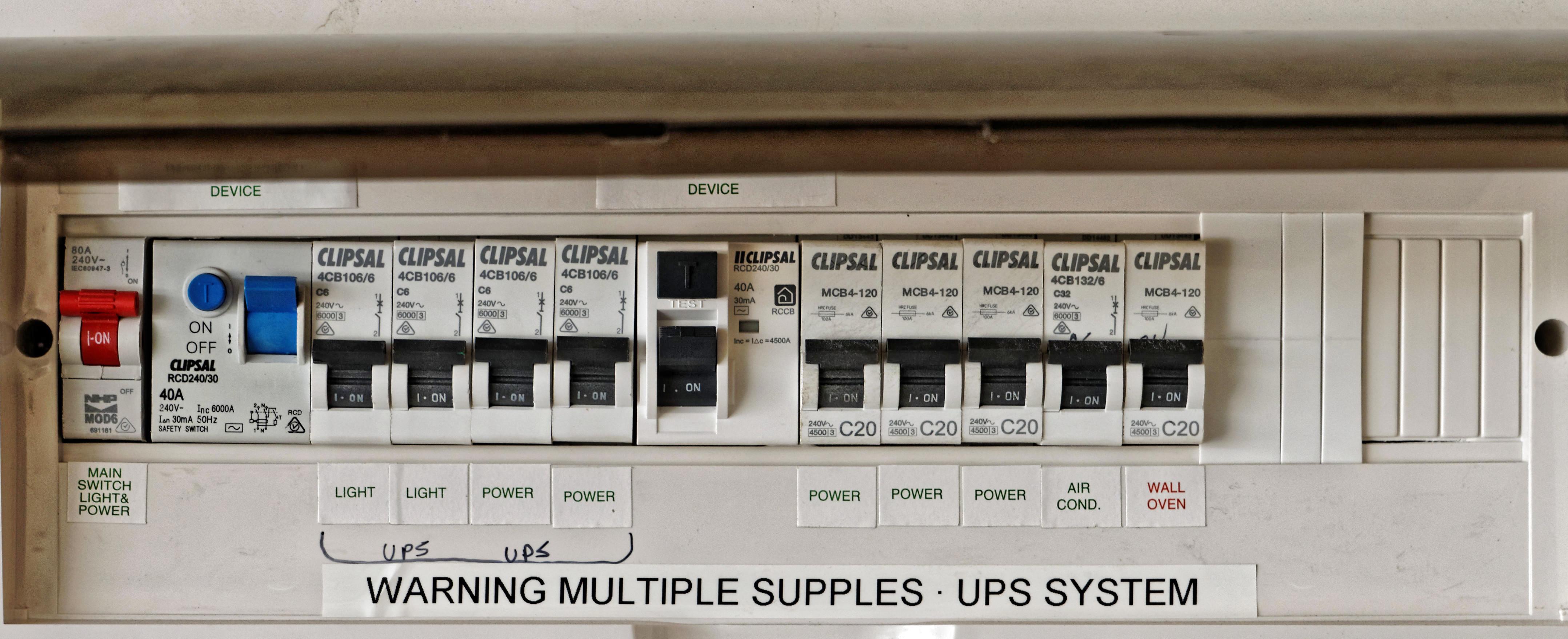 Greg\'s photos, 3 Apr 2016: House wiring switchboard, rabbit recipe ...